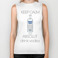 vodka Biker Tanks featuring Keep calm vodka - BRivido by Raffaele Borreca