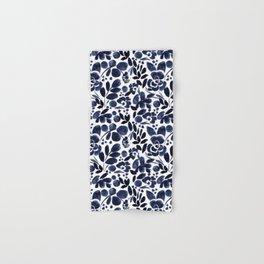 Navy Floral - medium Hand & Bath Towel