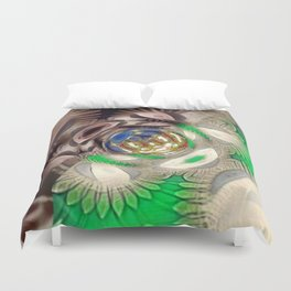 Mix of Mutated Patterns Duvet Cover