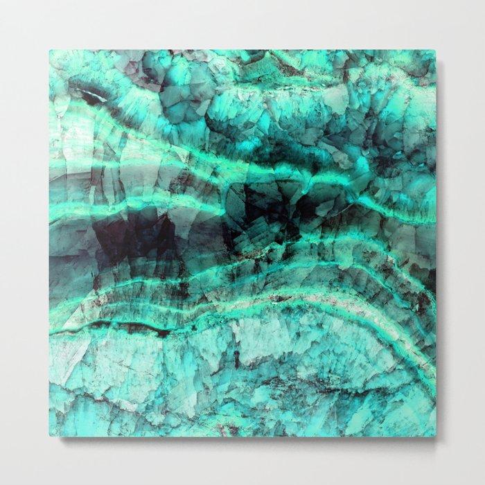Turquoise onyx marble Metal Print