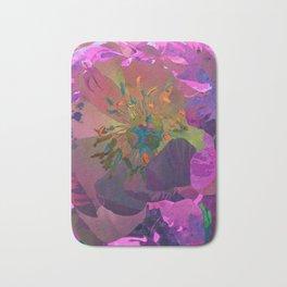 Hot Pink Purple Peony Flower Art #1 | Watercolor Floral Illustration Bath Mat