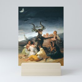 The Sabbath of witches by Francisco Goya, 1798 Mini Art Print