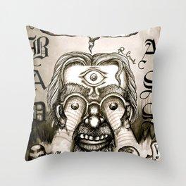 R. Crumb tribute version 1 Throw Pillow