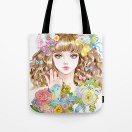 Lara-flower girl Tote Bag