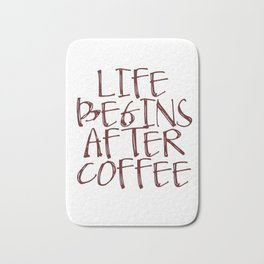 Coffee Decor, Life begins after coffee Sign, Coffee Sign, Small Wood Sign Bath Mat