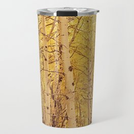 Fall Aspen Trees Travel Mug
