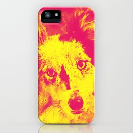 border collie dog 5 portrait wsyp iPhone Case