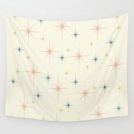 Mid Century Modern Stars Wall Tapestry