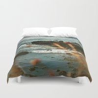 west coast Duvet Covers featuring West Coast Oceans by Amy J Smith Photography