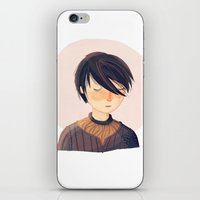 arya iPhone & iPod Skins featuring There Is Only One Thing We Say To Death by Nan Lawson