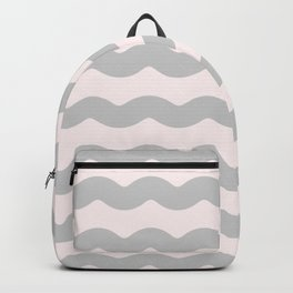 Gasp Gray on Millennial Pink Waves Backpack