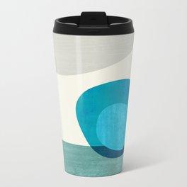 Stacking Pebbles Blue Metal Travel Mug
