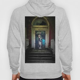 North Dublin Graffitied Door Street Photography Ireland Hoody