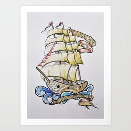 El bote Art Print
