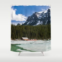 Canoeing in the Mountains Shower Curtain