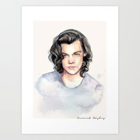 coconutwishes Art Prints featuring Harry Watercolors II by Coconut Wishes