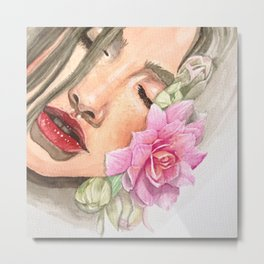 Cherry Lips Metal Print