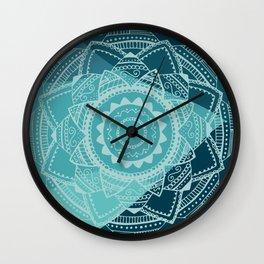 Singing white mandala Wall Clock