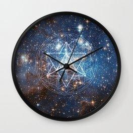Merkaba in Flower of Life Wall Clock