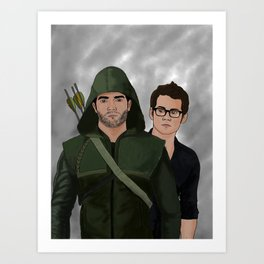Arrow!Sterek Art Print