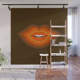 Pop Lips - Golden Wall Mural