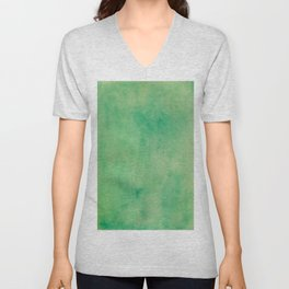 MINT GREEN WATERCOLOR BACKGROUND.  Unisex V-Neck