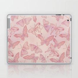 Butterfly Pattern soft pink pastel Laptop & iPad Skin