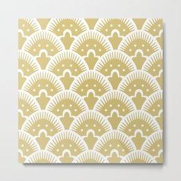 Fan Pattern Gold Metal Print