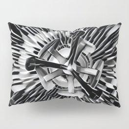 Passiflora Black and White Passion Flower Pillow Sham