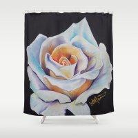 selena Shower Curtains featuring Como La Flor by ThatOneGirl_Lucy