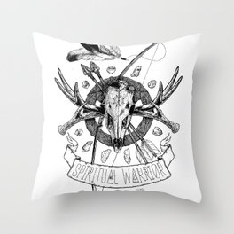 Spiritual Warrior Throw Pillow