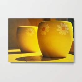 Yellow Yellow Metal Print