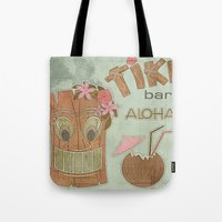 aloha Tote Bags featuring Aloha by Robin Curtiss