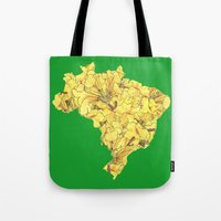brazil Tote Bags featuring Brazil by Ursula Rodgers