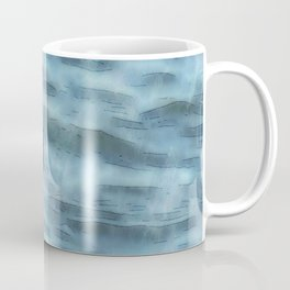 Fledgling Flamingo At Sea Watercolor Coffee Mug
