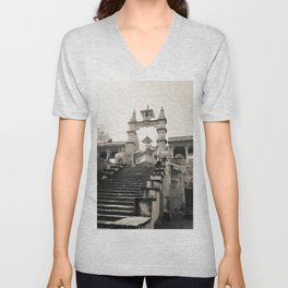 Entryway to a Hindu Temple in India Unisex V-Neck