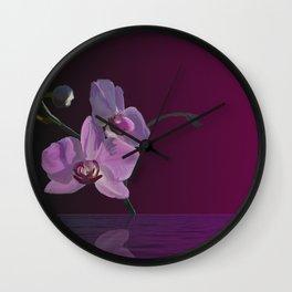 Minimalist Orchid Wall Clock