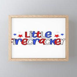 Little Firecracker 4th of July Framed Mini Art Print