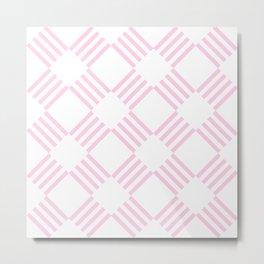 Pink Boxy Pattern Metal Print