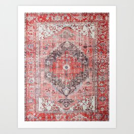 Vintage Anthropologie Farmhouse Traditional Boho Moroccan Style Texture Art Print