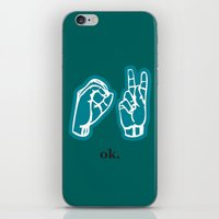 kim sy ok iPhone & iPod Skins featuring ok by Chloe PurR