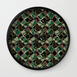Camouflage . Wall Clock
