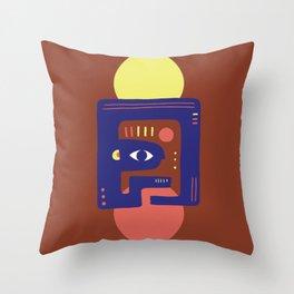 Mother Earth - Minimal Modern Mid-Century Snake Throw Pillow
