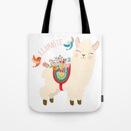 Llamaste - When A Llama Offers You A Respectful Greeting Tote Bag