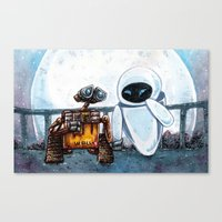 wall e Canvas Prints featuring Wall-E by Agui-chan