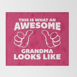 Awesome Grandma Funny Quote Throw Blanket