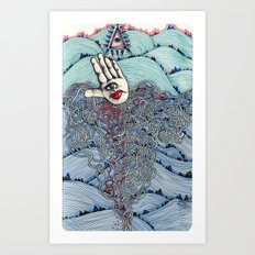 I see all the mountains Art Print