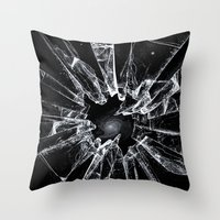 broken Throw Pillows featuring Broken by nicebleed