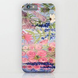 Flowers Garden Acrylic Painting iPhone Case