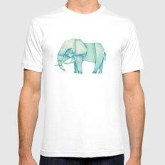 Paper Elephant MEDIUM White Mens Fitted Tee